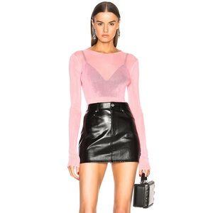 Helmut Lang Lamb Leather Five Pocket Skirt…